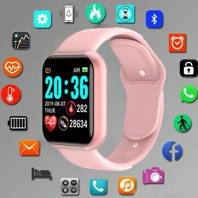 $ CDN20.03 • Buy Squae Silicone Digital Watch Men Sport Women Watches Electronic LED Fitness Pink