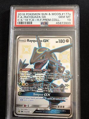 $ CDN633.04 • Buy PSA 10 Shiny Rayquaza GX 177a/168 Hidden Fates Promo Pokemon Card