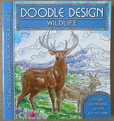 £6.89 • Buy Doodle Design Colouring Book Pad - Wildlife By Holland Publishing Paperback The