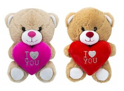15cm Soft Plush Cute Heart Teddy Bear Valentines Mothers Day I Love You Mum Gift • 9.95£