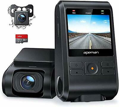 AU92.04 • Buy APEMAN Dash Cam Front And Rear Camera For Cars 1080P SD Card Included Support...