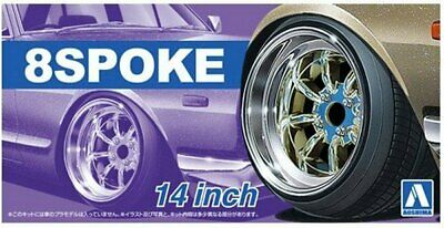 Aoshima 05376 8 Spoke 14  1:24 Plastic Model Car Kit • 11.95£