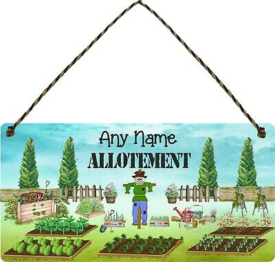 PERSONALISED Allotment Sign Veggie Garden Signs Hanging Plaque Shed Sign Gifts • 7.49£