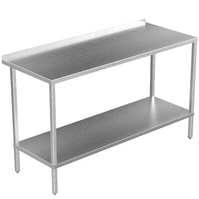£218.39 • Buy Stainless Steel Kitchen Table Commercial Catering Heavy Duty Adjustable Shelf