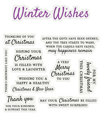 £5.99 • Buy Crafter's Companion - Sentiment & Verses Clear Acrylic Stamp - Winter Wishes