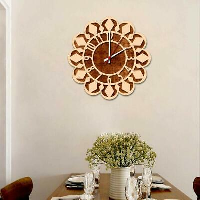 Vintage Home Decor Modern Sun Flower Design Wooden Wall Clock Perfect For Gift • 80.99£