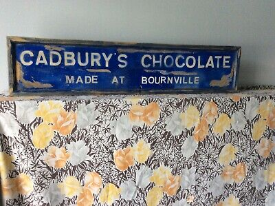 £35 • Buy Antiuqe Wooden Style Sign  Cadbury's Chocolate