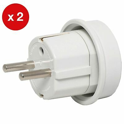 AU17.90 • Buy Australia / NZ To Europe & Bali Travel Power Adapter Pk2