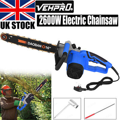 Electric Chainsaw Garden Tools Cover Case 2600 W, 40 Cm Blade Corded Aluminum • 52.98£