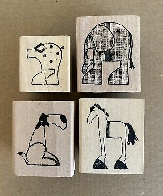 £4 • Buy East Of India Set Of 4 Animal Stamps Children, Craft, Card Making