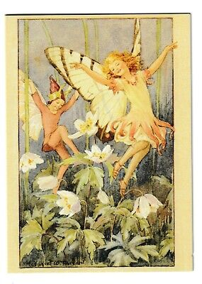 Margaret Tarrant Wood Anemone Fairy Blank Medici Greeting Card • 1.75£