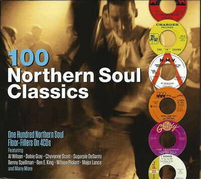 100 Northern Soul Classics 4-CD NEW SEALED Al Wilson/Dobie Gray/Sugarpie DeSanto • 8.99£