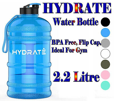 £17.99 • Buy HYDRATE XL Jug 2.2 Litre Water Bottle - BPA Free, Flip Cap, Ideal For Gym