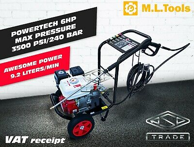 Petrol Pressure Washer - 3500PSI / 240BAR Power Jet Wash Designed By Germany • 279.99£