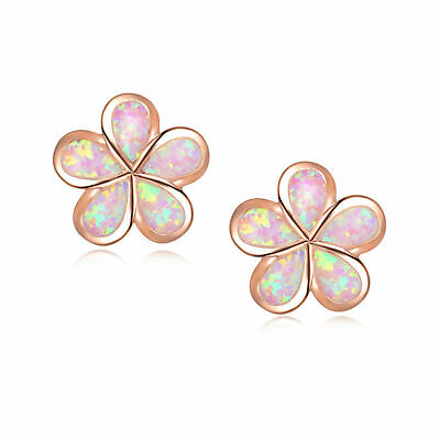 £21.99 • Buy  (rge 8) Gorgeous  Pink   Fire Opal Rose Gold    Stud  Earrings