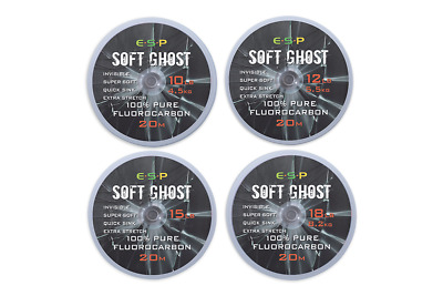 £9.95 • Buy ESP Soft Ghost Fluorocarbon Hooklength 20m For Carp Fishing
