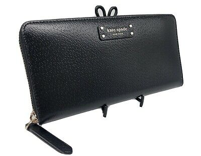 $ CDN87.12 • Buy 💋 NWOT KATE SPADE Jeanne Large Continental Wallet Black Leather Ziparound