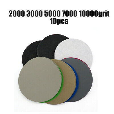 AU16.43 • Buy 10PCS 7in/180mm Round Sanding Disc Hook & Loop Flocking Sandpaper 2000-10000Grit