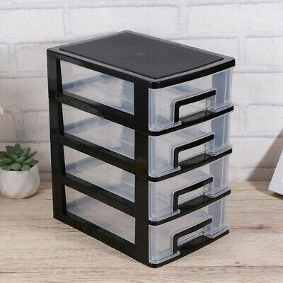 £11.98 • Buy 4 Tier Plastic Storage Drawers Home Office Tower Unit Organizer Tidy Paper Rack