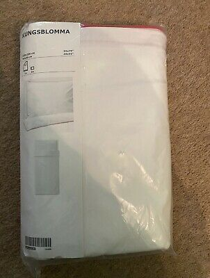 IKEA KUNGSBLOMMA Duvet Cover And Pillowcases Single 150x200 Cm White & Red • 18.99£