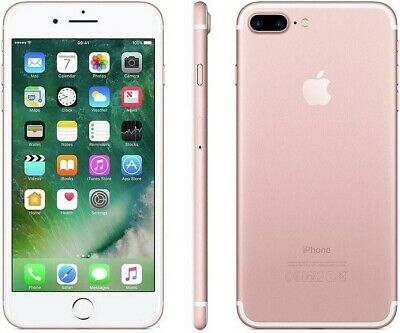 NEW Apple IPhone 7 Plus 4G 5.5  Smartphone 32GB Unlocked 1YR - Rose Gold • 319.99£