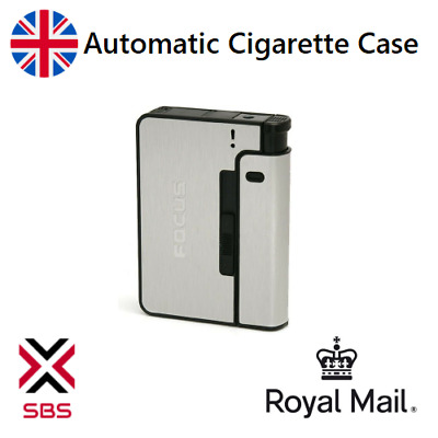 Automatic POP-UP Cigarette Case Tobacco Storage Box Holder Replaceable Lighter • 12.99£