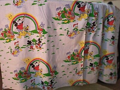 'Mickey & Friends Paint A Rainbow'. Kids Printed 100% Cotton Fabric.140cm Wide. • 5.99£