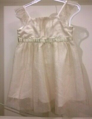 £2.50 • Buy Baby Girls Cream, Sparkle Dress By OCCASION WEAR 9-12 Months