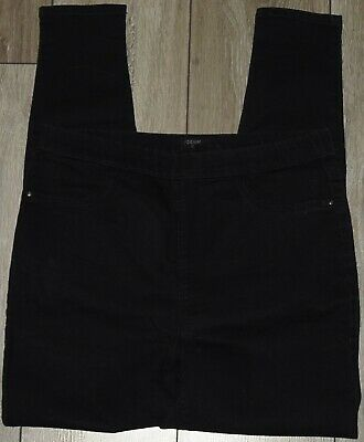 ✿Ladies MATALAN Black Stretch Skinny Denim Jeggings Size 12✿ • 4.50£