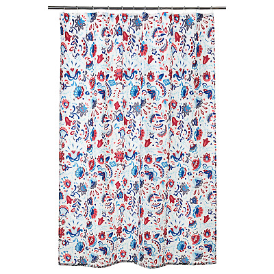 £9.99 • Buy Shower Curtain, White/multicolour 180x180 Cm. DISPATCHED WITHIN 24 HOURS.