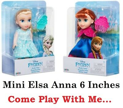 X2 Frozen Anna & Elsa 6 Inches Mini Toddler Small Dolls Boxed Come Play With Me  • 29.99£