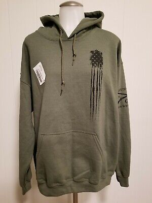Grunt Style Beast Flag Pullover Hoodie - Military Green Size Large  • 21.52£