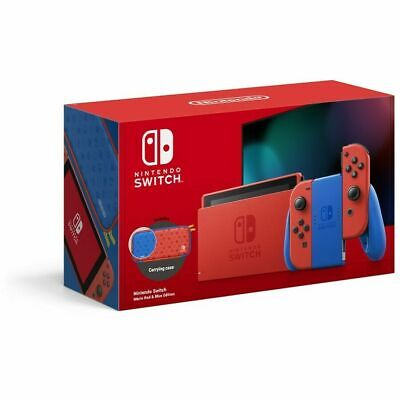 AU455.95 • Buy Nintendo Switch Mario Red & Blue Edition + Mario Kart 8 Deluxe + Animal Crossing