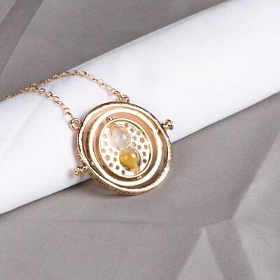$ CDN6.28 • Buy Harry Time Turner Potter Machine Hermione Gold Dust Necklace Gift Hogwarts