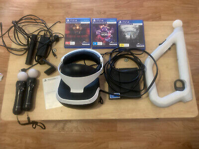 AU360 • Buy Sony Playstation VR + Motion Controllers + Camera + Aim Controller + 3 Games