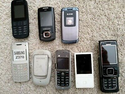 $ CDN125.34 • Buy Lot Of 8 Old Vintage Used Cell Phones Nokia Vtech Samsung