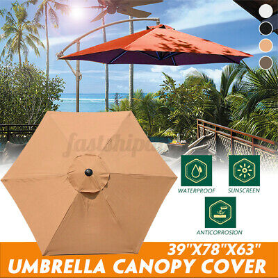 6ft Patio Sun Umbrella Cover 6rib Replacement Polyester Canopy Garden  F • 23.86£