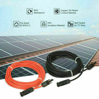 £9.81 • Buy Red/Black Solar Panel MC-4 Connectors Power Extension Cable 2.5/4/6mm² 5-50ft