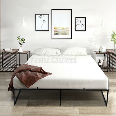 $ CDN143.35 • Buy Queen Size Bed Frame Mattress Platform 14 Inch Metal Steel Heavy Duty Foundation