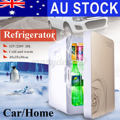 AU115.99 • Buy Mini Fridge 20L Car Home Drinks Beer Portable Cooler Bar Ice  Freezer Warmer AU