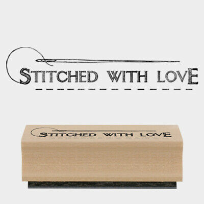 £3.50 • Buy East Of India Rubber Stamp - Stitched With Love