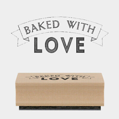 £3.50 • Buy East Of India Rubber Stamp - Baked With Love