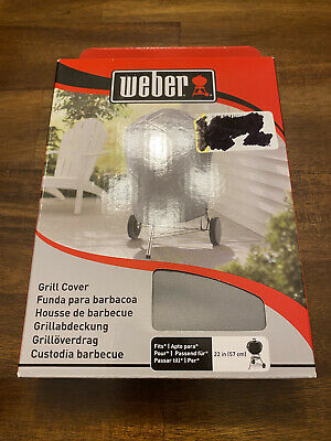 $ CDN32.90 • Buy NEW Weber Vinyl Grill Cover Protector Fits 22  Charcoal BBQ Grills 7176