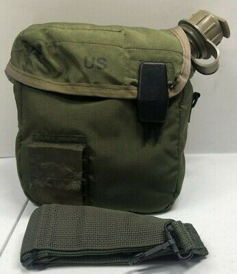 $ CDN21.89 • Buy 2 Qt OD Collapsible Canteen W/ 2 Qt OD Canteen Cover & Strap, US Military Issue
