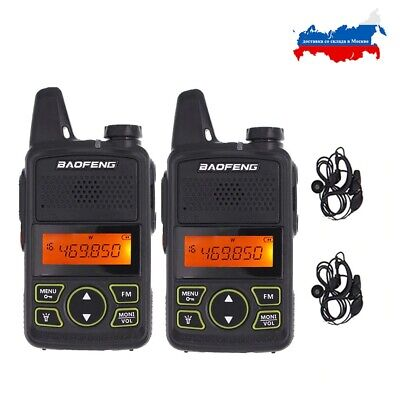 $ CDN47.99 • Buy 2x  BAOFEN BF-T1 Two Way Radio UHF 400-470MHz Walkie Talkie Long Range + Headset