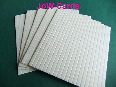 £3.55 • Buy 2200 Decoupage Foam Sticky Pads 5x5x2mm Double Sided Adhesive