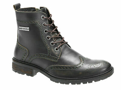 $ CDN18.58 • Buy Mens Harley Davidson RADOLL Leather Lace / Zip Up Brogues Boots Size UK 6 40