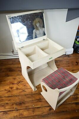 Otsuka Kagu 1960's Imported Cream Japanese Dressing Table • 100£