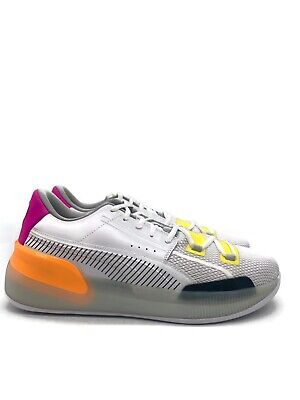 Puma Clyde Hardwood Retro (Men's Size 13) Basketball Shoe White Orange 19404-01 • 59.37£