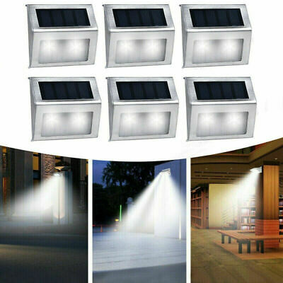 6x Super Bright Solar Powered 2LED Door Fence Wall Lights Outdoor Garden Lamp UK • 15.99£